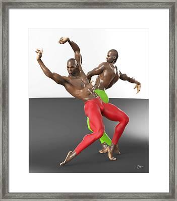 Bailarines Contemporaneos Framed Print by Joaquin Abella