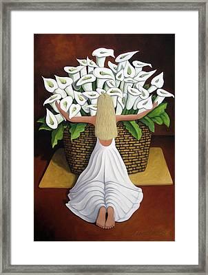 Baileyrae Lilies Framed Print by Lance Headlee