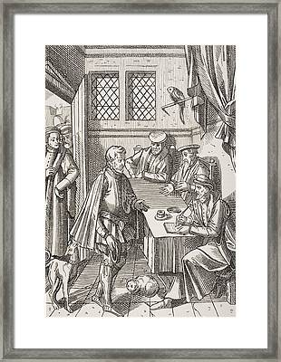 Bailliage Or Tribunal Of The King S Framed Print by Vintage Design Pics