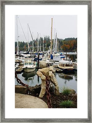 Bainbridge Harbor Framed Print by Bruce Bley