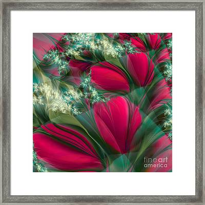 Baisers Des Tulipes Framed Print by Mindy Sommers