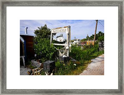 Bait And Tackle Framed Print by David Lee Thompson