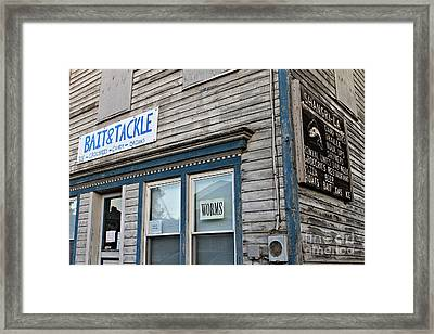 Bait And Tackle  Framed Print by Elizabeth PhotoClique
