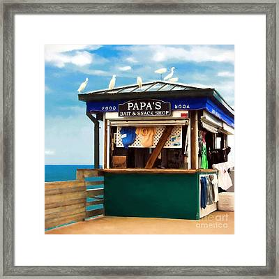 Bait Or Snacks Framed Print by Mel Steinhauer