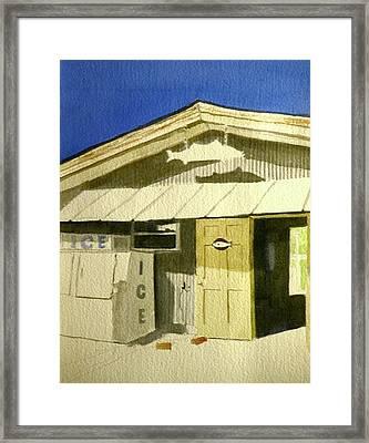Bait Shop In Gasparilla Florida Framed Print