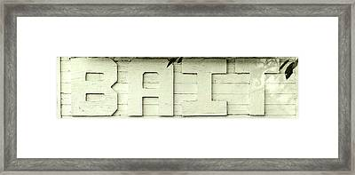 Bait Sign Panoramic Framed Print by Terry DeLuco