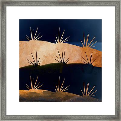 Baja Landscape Number 1 Square Framed Print by Carol Leigh