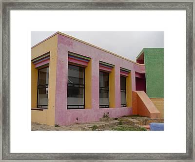 Baja Reststop Framed Print by Roman Lezo