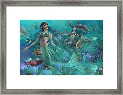 Bajo El Mar De Los Muertos  Framed Print by Betsy Knapp