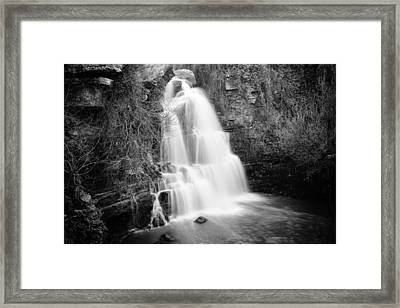 Bajouca Waterfall Bw Framed Print by Marco Oliveira