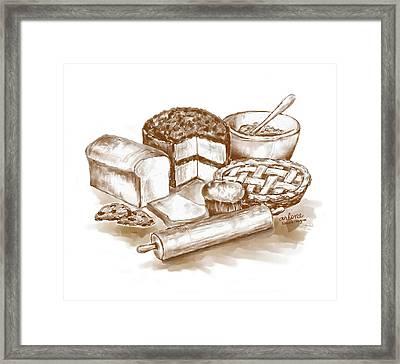 Baked Goods Framed Print