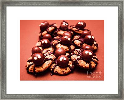 Baked Halloween Spider Cookies Framed Print