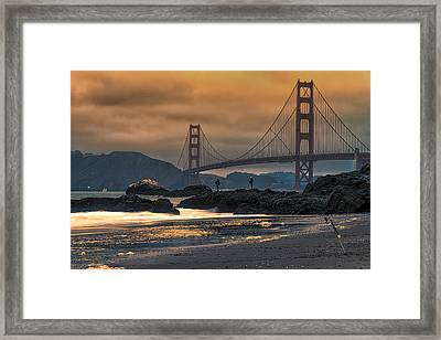 Baker Beach Golden Gate Framed Print