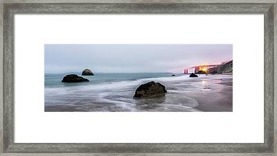 Baker Beach Obscured Framed Print