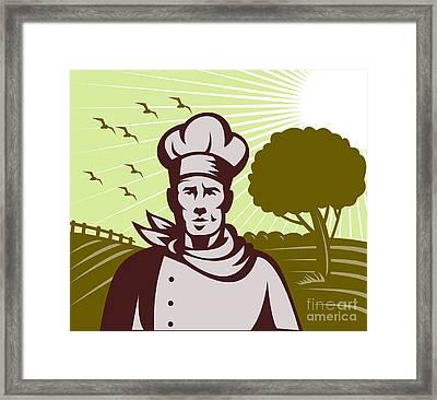 Baker Chef  Framed Print by Aloysius Patrimonio