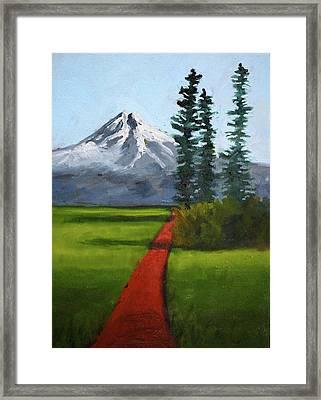 Framed Print featuring the painting Baker Meadow by Nancy Merkle