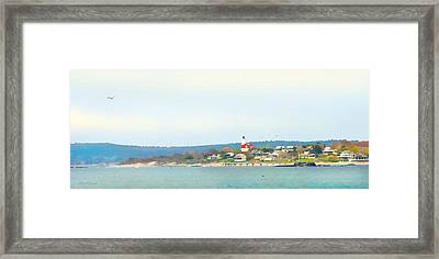 Bakers Island Lighthouse Framed Print by Michelle Wiarda