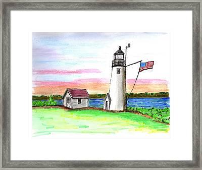 Bakers Island Framed Print