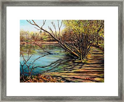 Bakers Pond Ipswich Ma Framed Print by Eileen Patten Oliver