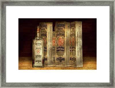 Bakery - Hallocks Pure Vanilla Extract Framed Print