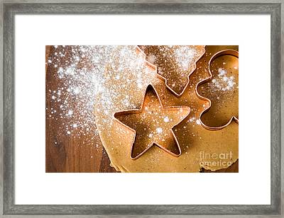 Baking Christmas Cookies Framed Print