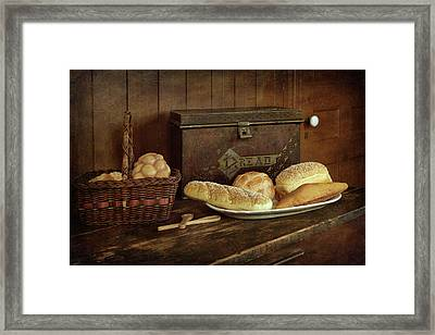 Baking Day - Bread Framed Print by Nikolyn McDonald