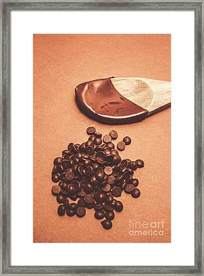 Baking Desserts With Chocolate Framed Print