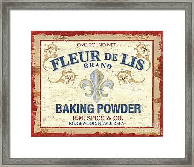 Baking Powder Fleur De Lis Framed Print