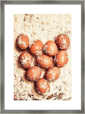 Baking With Flour And Eggs Framed Print by Jorgo Photography - Wall Art Gallery