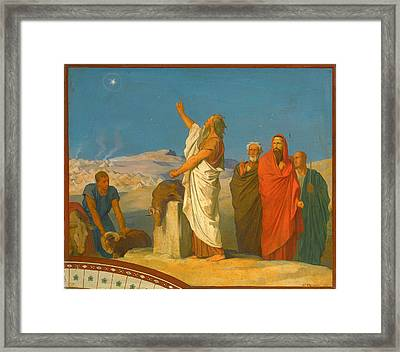Balaam's Prophecy Of Christ As Star And Sceptre Framed Print