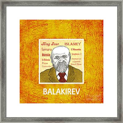 Balakirev Framed Print by Paul Helm