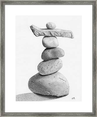 Balance 4  Drawing  Framed Print by Garry McMichael