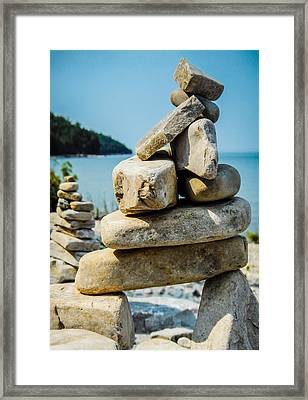Balance Is The Key Framed Print