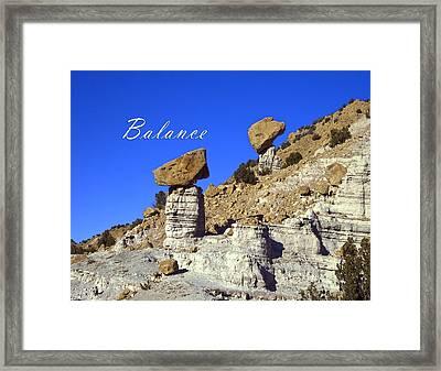 Balance Framed Print by Lou  Novick
