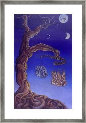 Balance Of Fire And Water Framed Print by Natalia Kadish