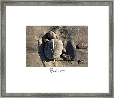 Balance Framed Print by Peter Tellone