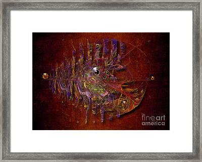 Framed Print featuring the digital art Balance Ultramodern by Alexa Szlavics