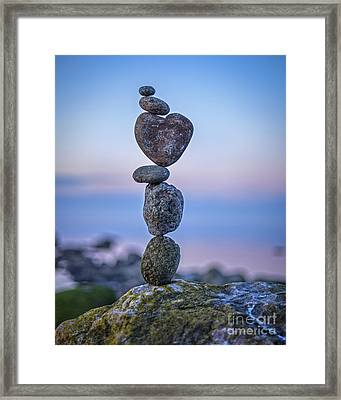 Balanced Heart Framed Print