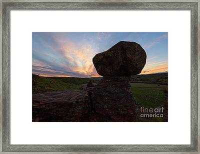 Framed Print featuring the photograph Balanced by Mike Dawson