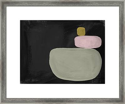 Balanced Modern- Art By Linda Woods Framed Print by Linda Woods