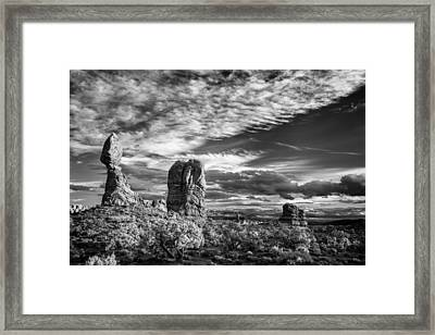 Balanced Rock And Friends Framed Print