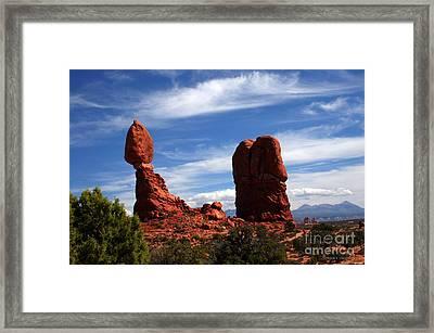 Balanced Rock Arches National Park, Moab, Utah Framed Print