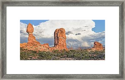 Balanced Rock At Arches National Park Framed Print