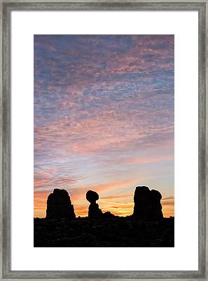 Balanced Rock At Sunrise Framed Print