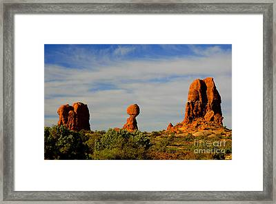 Balanced Rock Framed Print by Dennis Hammer