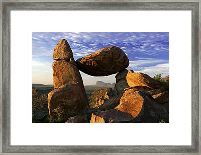 Balanced Rock Framed Print by Eric Foltz