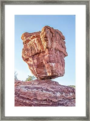 Balanced Rock In Garden Of The Gods, Colorado Springs Framed Print by Peter Ciro