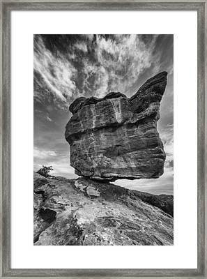 Balanced Rock Monochrome Framed Print
