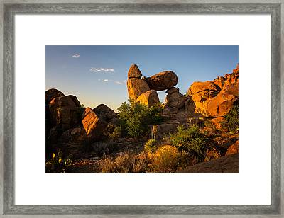 Balanced Rock Sunrise 1 - Big Bend National Park - Texas Framed Print by Brian Harig