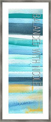 Balanced With Nicole Framed Print